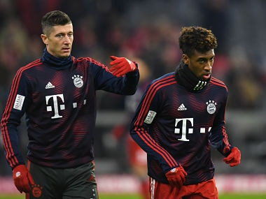 Bayern Munich stars Robert Lewandowski and Kingsley Coman trade punches in training ground squabble, claims report