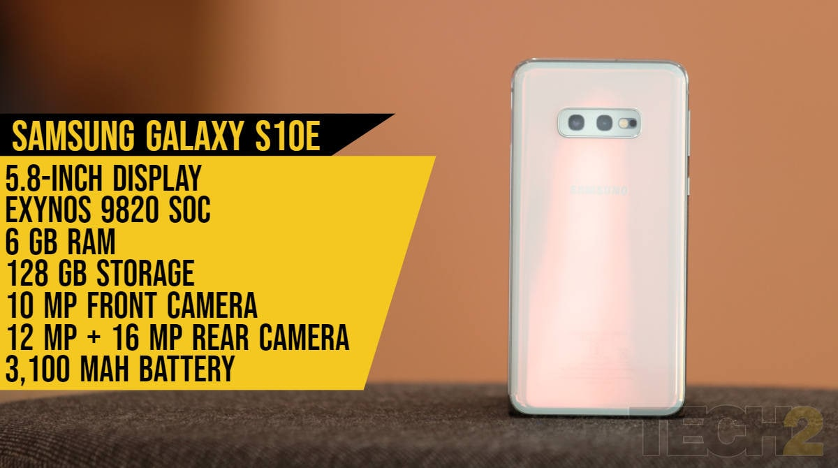 A quick look at the specifications of the Samsung Galaxy S10e.