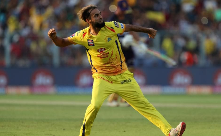 Imran Tahir took four for 27 and restricted KKR to 161/8 on a batting track in Kolkata before Suresh Raina scored a fifty to lead CSK to a five-wicket win. Sportzpics