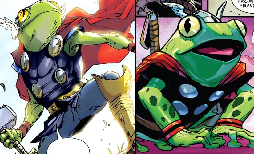 The first time it was Thor in frog form, but this actually happened more than once | Marvel Comics