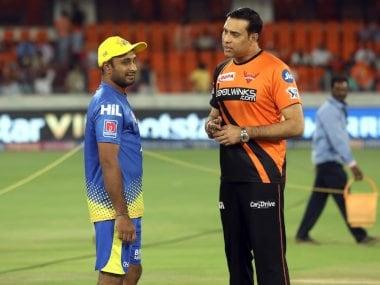 File image of VVS Laxman (R) with Ambati Rayudu. Sportzpics