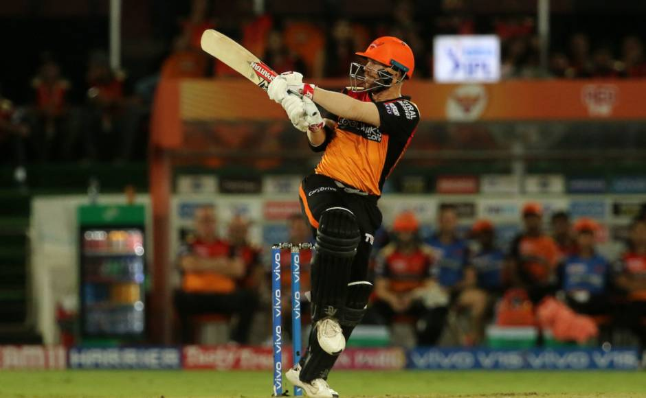 David Warneralong with his opening partner Bairstow gave SRH a quickfire start. The Australian slammed 50 off 25 and added 66 for the firstwicket before Bairstow took control of the chase. Sportzpics