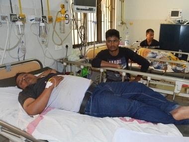 Injured people in Charilam, Tripura/ Image procured by Kubra Fatima/101Reporters