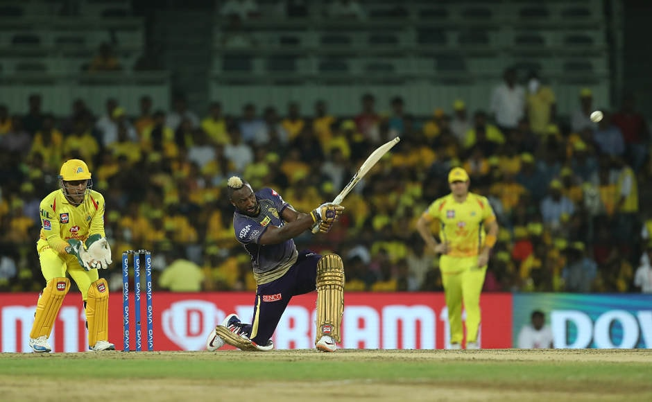 Andre Russell almost scored half of the team's runs on Tuesday as he scored 50 made off 44 balls. KKR, in total, could manage 108. Unlike his previous outings, Russell was calm at the crease and looked to play till the end of 20 overs. His plan worked and despite KKR losing wickets consistently at one end, they crossed the 100-run mark. Sportzpics