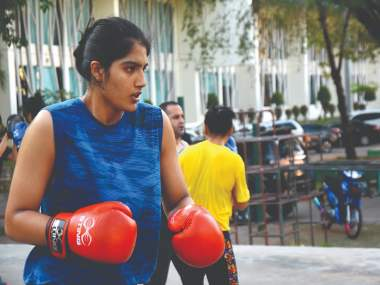 Hawa Singh's granddaughter Nupur gets in the Asian ring