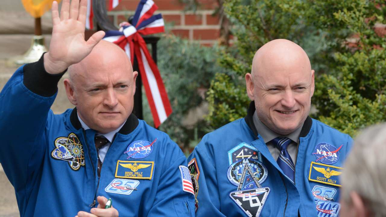 Retired twin astronauts, Scott and Mark Kelly, were subjects of NASA's Twins Study. While Scott (right) spent a year in space while Mark (left) stayed on Earth as a control subject. ImageL NASA