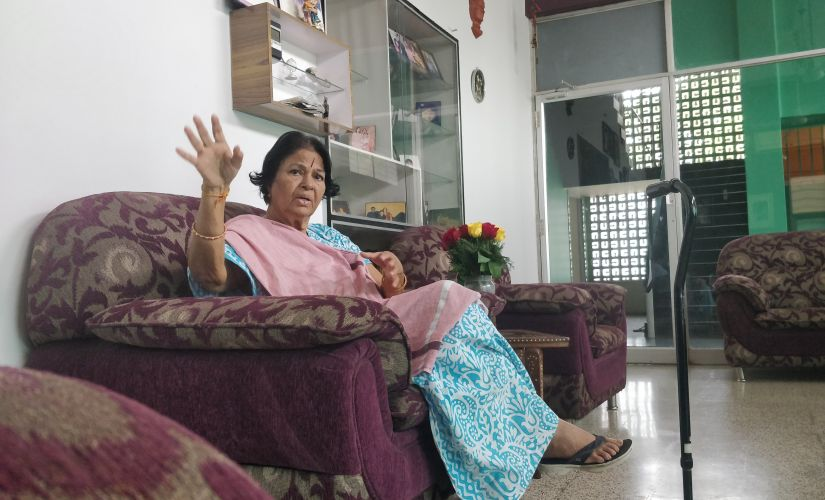 A veteran of the Indian National Congress, Manorama is all smiles when we start talking about her initial days in power. The first woman cabinet minister of Karnataka, she was elected as an MLA in 1972 and went on to become an MP in 2004. Image by Greeshma Kuthar