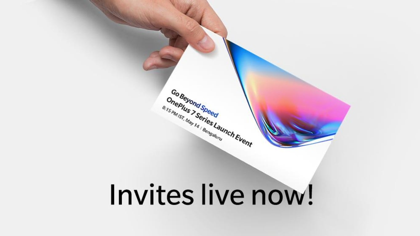 OnePlus 7 series launch event invitations go live on OnePlus India website