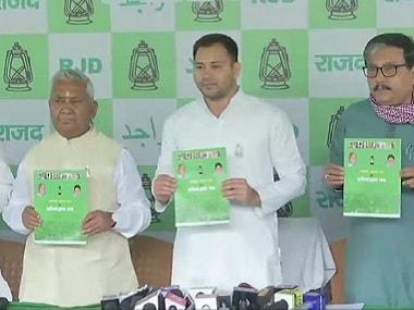 Tejashwi Yadav releases RJD manifesto; promises helpline to Biharis outside state, reservation proportionate to SC/ST