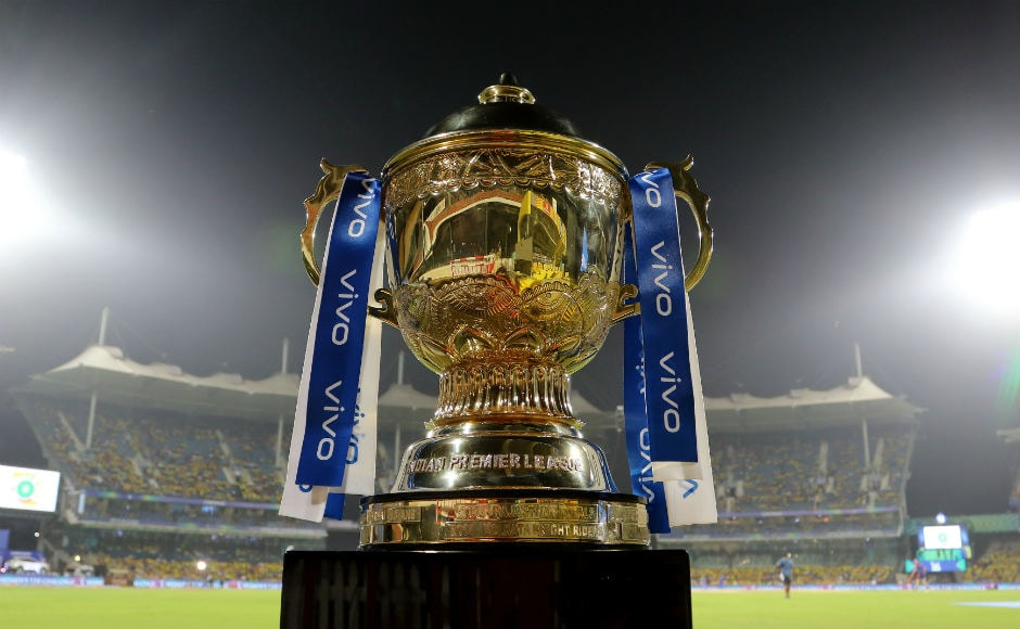 The IPL trophy on display on the sidelines of Qualifier 1 between Mumbai Indians and Chennai Super Kings. Sportzpics