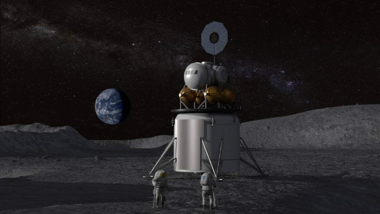 "The concept of the artist about the upcoming landing on the moon, conducted in accordance with the recently named program of NASA ""Artemis"". Image: NASA"
