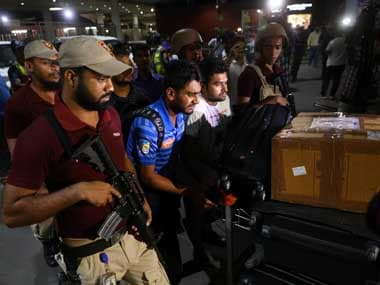 Mehidy Hasan Miraz, a member of the Bangladesh Cricket Team, arrives at the Hazrat Shahjalal International Airport from New Zealand after escaping the Christchurch mosque attacks. Reuters