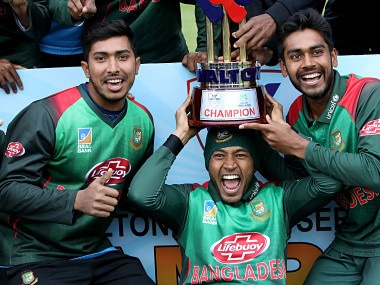 Bangladesh remained unbeaten at the end of the tri-series. AFP