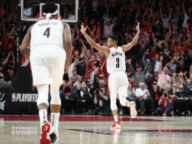 NBA Playoffs 2019: CJ McCollums 41-point blitz helps Blazers edge past Nuggets in quadruple overtime; Bucks beat Celtics