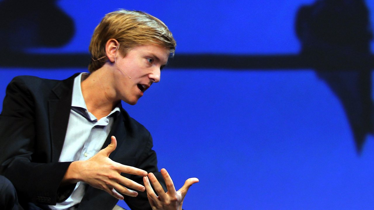 Chris Hughes, co-founder of Facebook, speaks during the Charles Schwab IMPACT 2010 conference in Boston, Massachusetts October 28, 2010. REUTERS/Adam Hunger (UNITED STATES - Tags: SCI TECH BUSINESS) - GM1E6AT0XS501