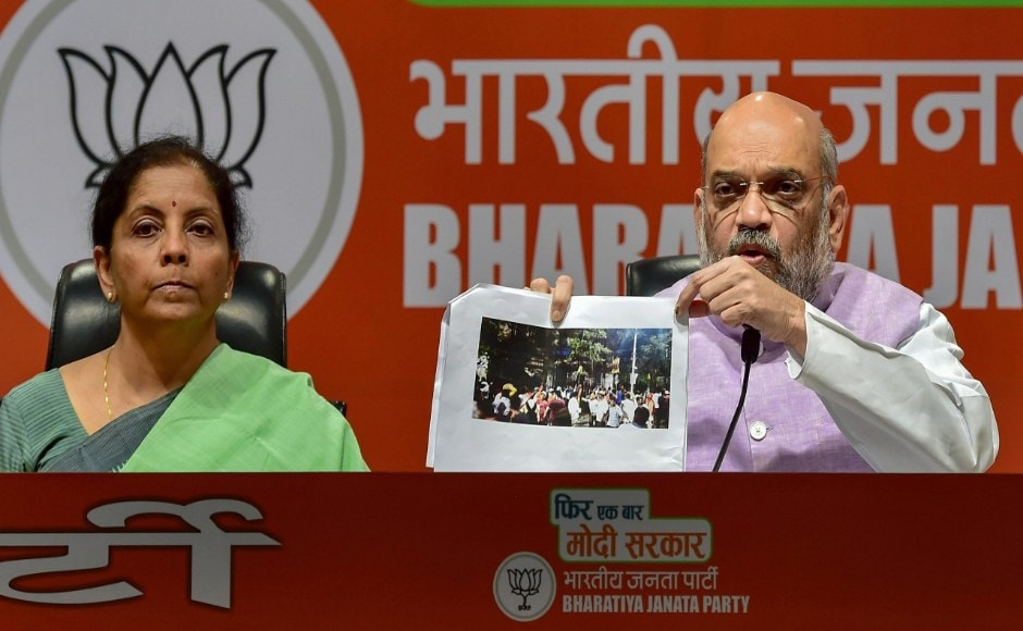 On Wednesday, Amit Shah also addressed a press conference to talk about the violence which ensued in his roadshow in Bengal on Tuesday. PTI