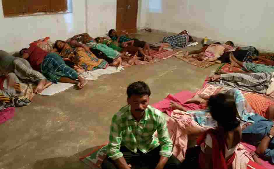 The Penthakota shelter home in Puri where around 200 people have been stationed. Those living in the low lying areas and closer to the Puri beach were shifted to several shelter homes by the district administration. Sonali Singh/101Reporters