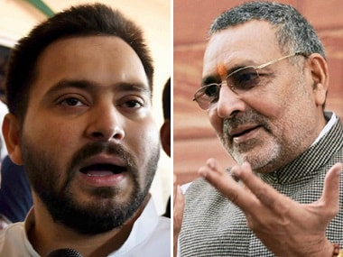 BJPs Giriraj Singh jeers at opposition over exit polls; RJDs Tejashwi Yadav terms predictions fraud and contrary to ground reality