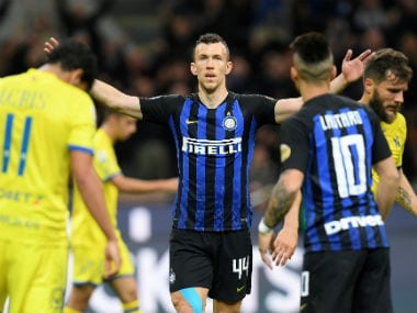 Serie A: Matteo Politano, Ivan Perisic score in either half as Inter Milan reclaim third spot with win over Chievo