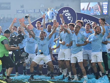 Premier League: Manchester City break Liverpool hearts after thrashing Brighton to retain title on thrilling final day