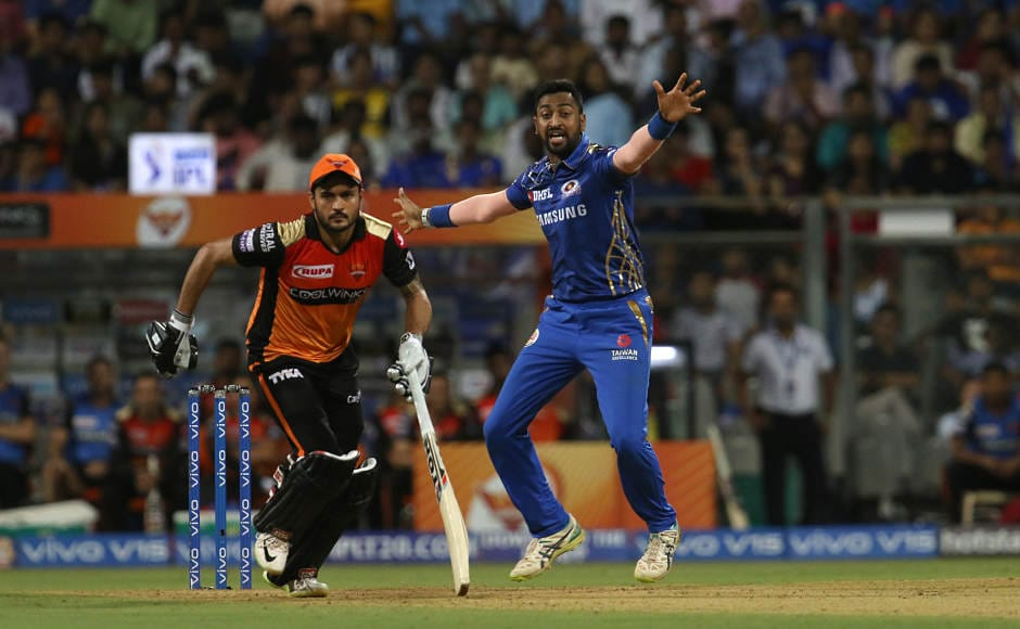 Krunal Pandya was the pick of the bowlers for MI as he grabbed figures of 2/22. He kept a tight leash on SRH batsmen and more importantly grabbed wickets for Mumbai at regular intervals. Sportzpics