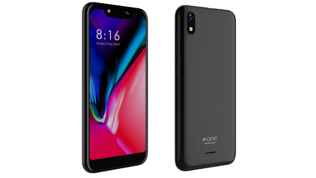 Micromax iOne Notch Display with 2,200 mAh battery launched in India at Rs 4,999