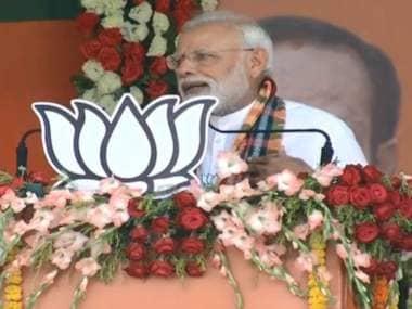 Prime Minister Narendra Modi addresses a rally in Odisha's Sundargarh. Twitter/@BJP4India