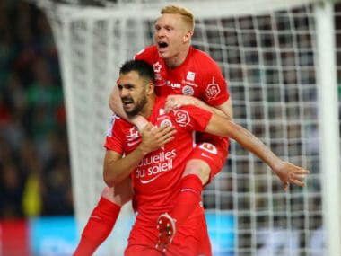 Ligue 1: Saint-Etienne miss chance to leapfrog third-placed Lyon after defeat to Montpellier; Brest secure promotion