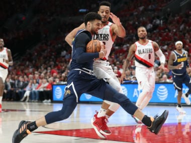 NBA Playoffs 2019: Jamal Murray leads Nuggets to gritty win over Blazers; Kawhi Leonard scores 39 points as Raptors level series