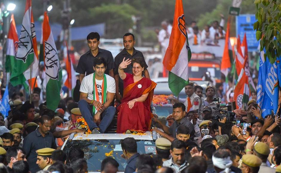 """Another roadshow she participated in was in support of South Delhi Congress candidate Vijender Singh. """"Their situation is like those children who don't do their homework and come to school. When teacher asks them questions, they say, 'Nehru ji hid my books, Indira ji made paper boats out of my homework and someone submerged my books in the water',"""" she said. Image courtesy: PTI"""