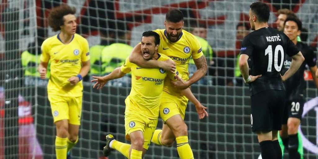 Europa League: Pedro's away goal gives Chelsea slim ...