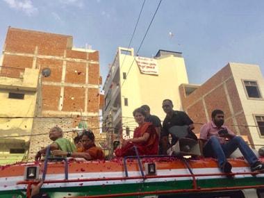 In North East Delhis Ghonda Chowk, Priyanka Gandhi ropes in Sheila Dikshit to woo voters as BJP struggles with Manoj Tiwaris invisible work