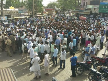 Protests took place in Alwar over the gangrape. Image courtesy: 101Reporters