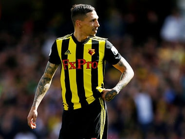 Premier League: Watfords Jose Holebas to play in FA Cup final after red card decision in loss against West Ham overturned