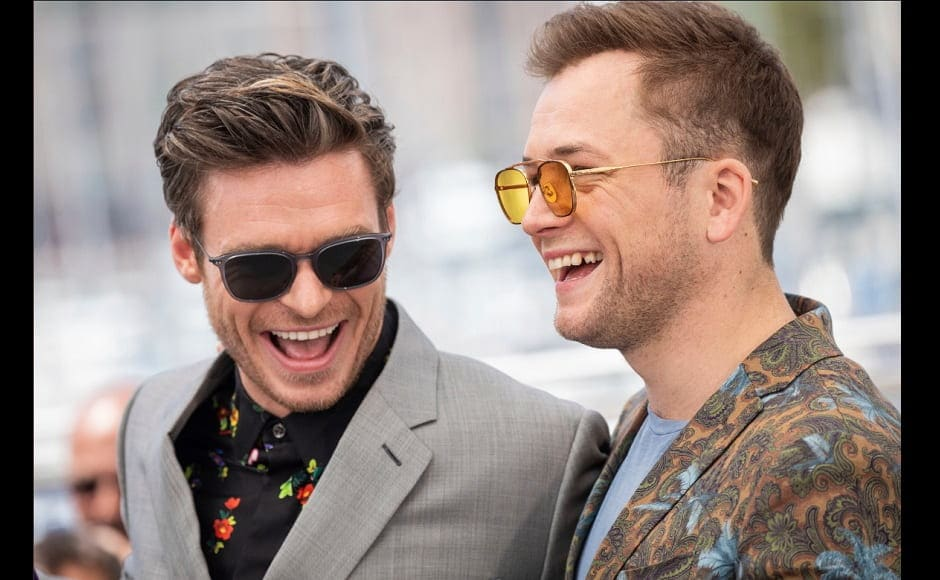 Richard Madden and Taron Egerton at the Cannes red carpet | Twitter
