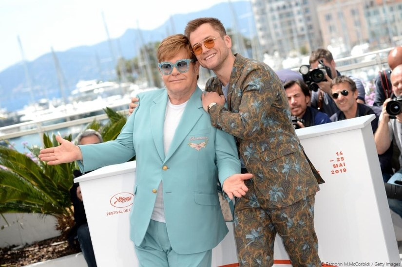 Elton John and Taron Egerton during the photocall for Rocketman at Cannes 2019