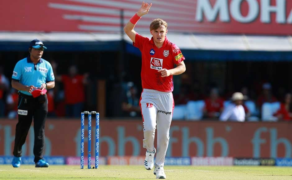 English youngster Sam Curran played a significant role in containing an explosive Chennai Super Kings attack by taking the wickets of Faf du Plessis, Suresh Raina and Shane Watson. Image Courtesy: SportzPics