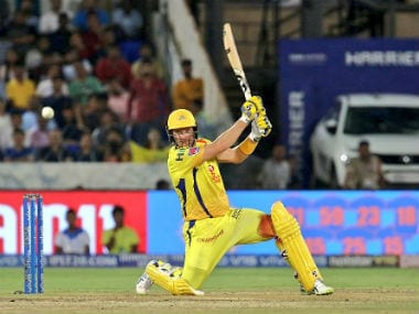 Shane Watson scored 80 off 59 balls in the IPL 2019 final but couldn't finish the job for CSK. Twitter: @ChennaiIPL