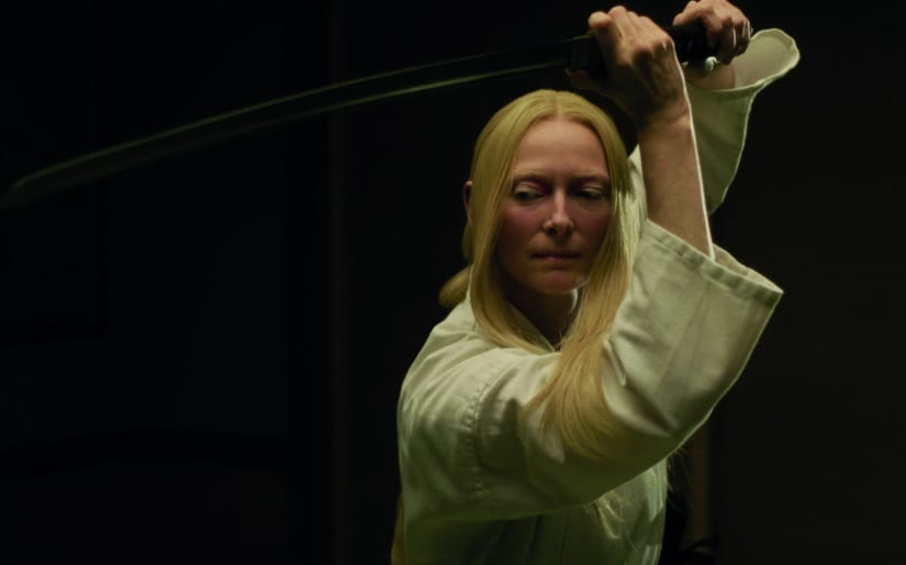 Tilda Swinton is a Scottish mortician and a skilled swordswoman in The Dead Don't Die