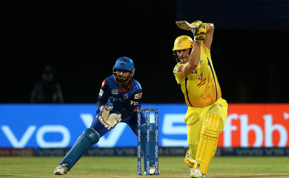 In CSK's reply, Shane Watson played knock of fifty from 32 balls., which included three fours and four sixes. He was dismissed by Amit Mishra in the 13th over with CSK just needing a little bit over 40 runs to win. Sportzpics