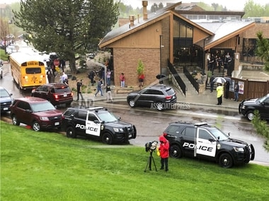 Colorado shooting: 1 dead, 8 injured after two students open fire in suburban Denvers STEM high school