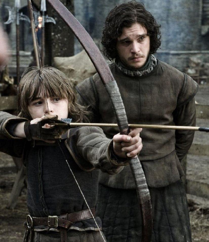 Bran with Jon. Game of Thrones season 1. HBO