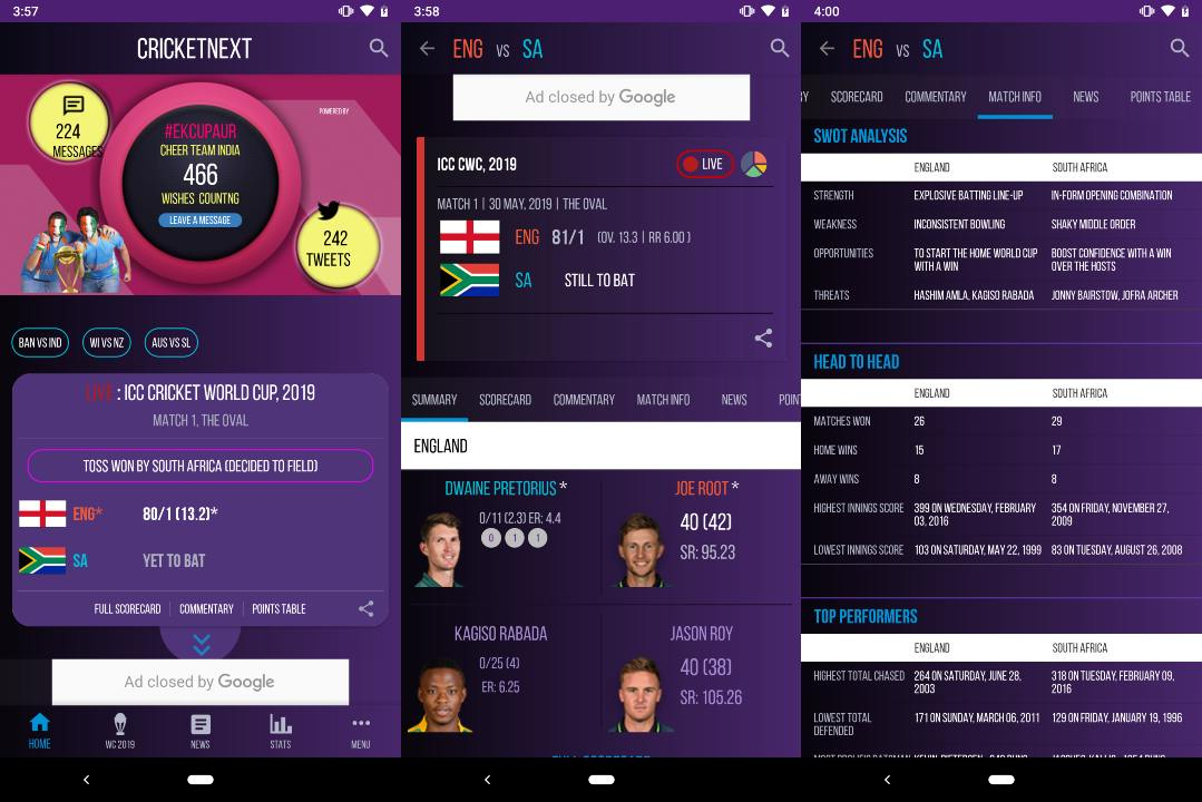 ICC Cricket World Cup 2019: A look at the best Android and iOS apps