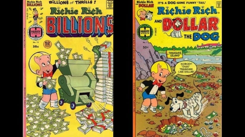 Lessons from reading Richie Rich comics in a plush penthouse (as a resident of a soft-socialist country)