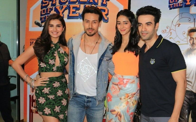 Student of the Year 2 cast with Punit Malhotra. Image via Twitter
