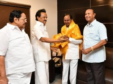 KCR meets Stalin in Chennai over bid for federal front, DMK sources say party leader instead asked TRS chief to support Congress