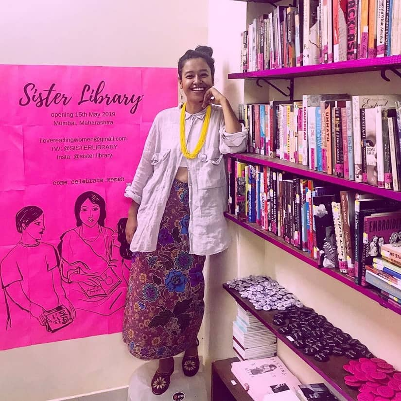 Artist Aqui Thamis Sister Library is a community-owned space bringing together books by, of and for women