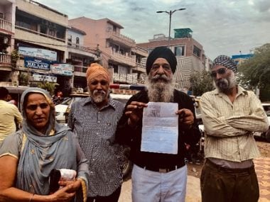 Sikhs protesting other, older instances of police brutality surfaced outside Mukherjee Nagar Police Station. Pallavi Rebbapragada