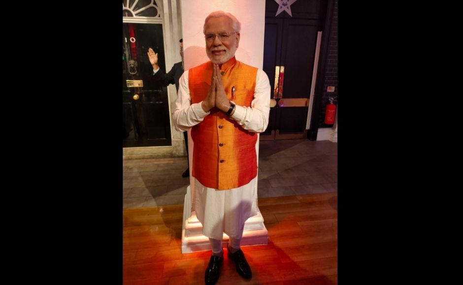 Wax statue of Prime Minister Narendra Modi at Madame Tussauds. Image clicked via OPPO Reno 10X Hybrid zoom