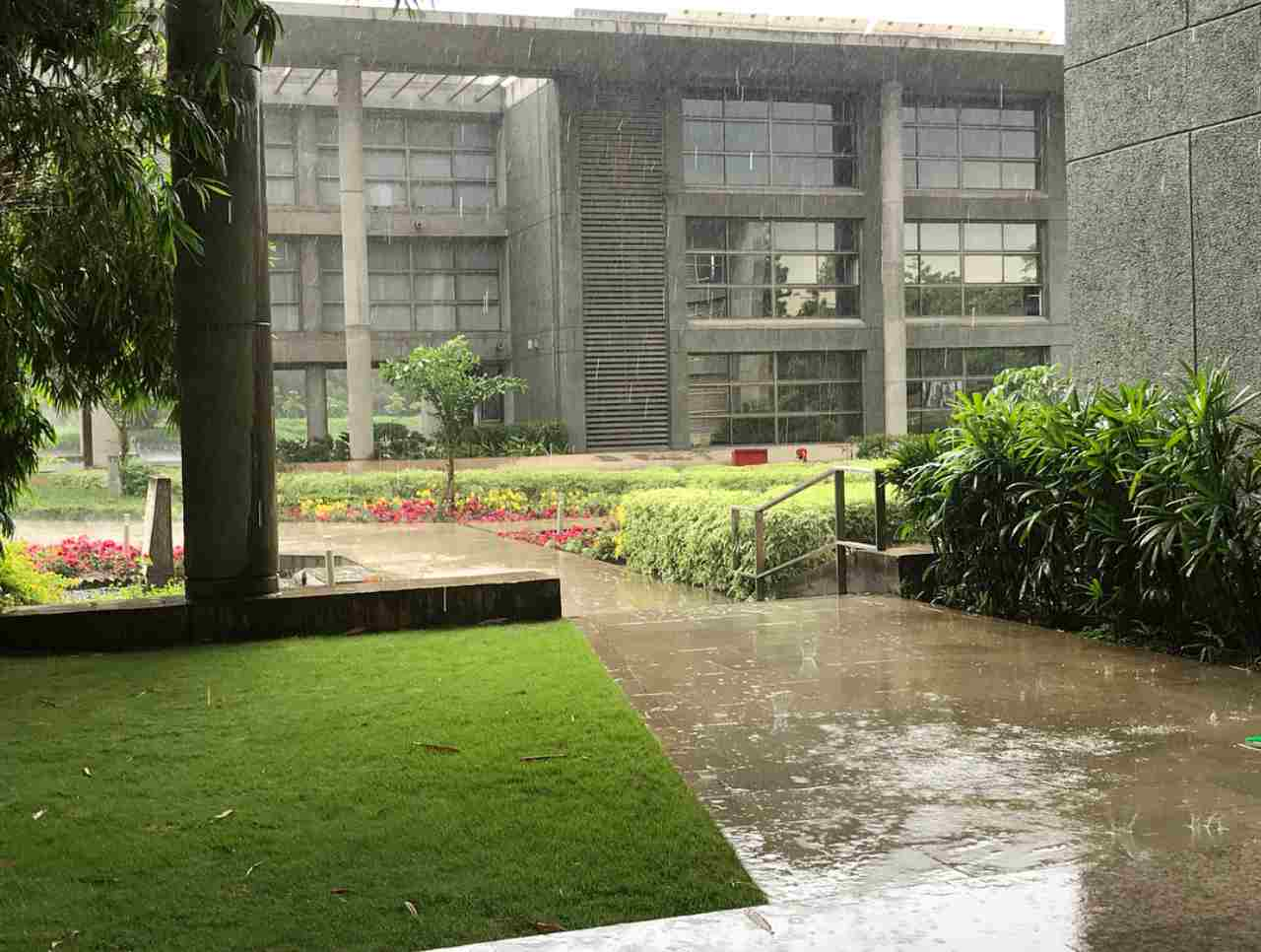 A rainy day at the IITM office. Image: IITM